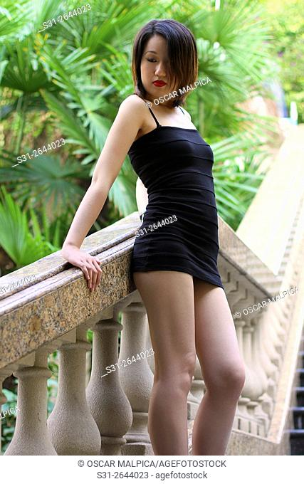 portrait of a sexy beautiful young asian girl from shanghai china