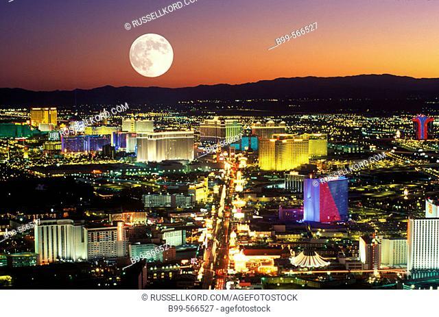 Hotels & Casinos, The Strip, Las Vegas, Nevada, Usa