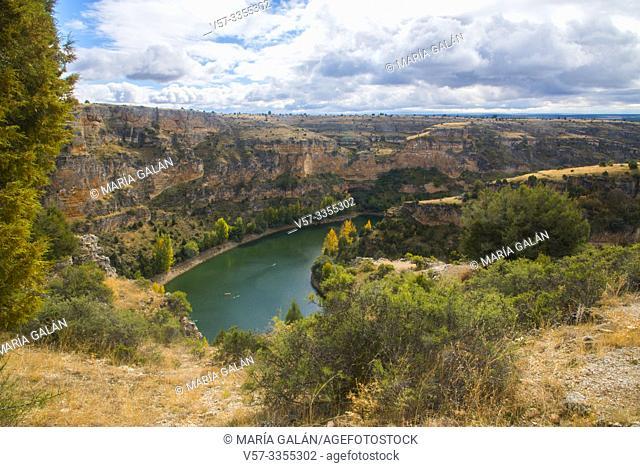 River Duraton. Hoces del Duraton Nature Reserve, Segovia province, Castilla Leon, Spain