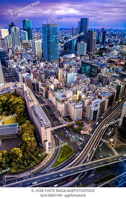 Japan, Tokyo City, Shuto Expressway, Akasaka- Roppongi area