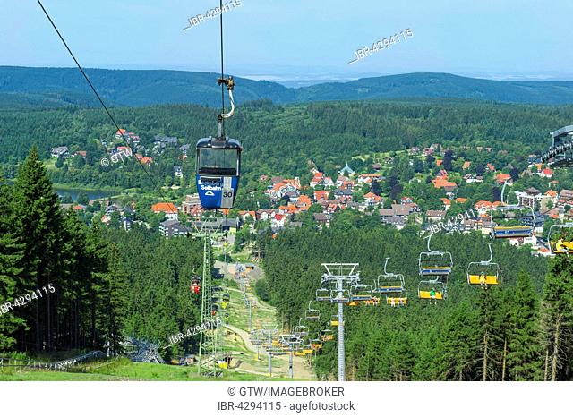 Bocksberg cable car and chairlift, Hahnenklee, Harz, Lower Saxony, Germany