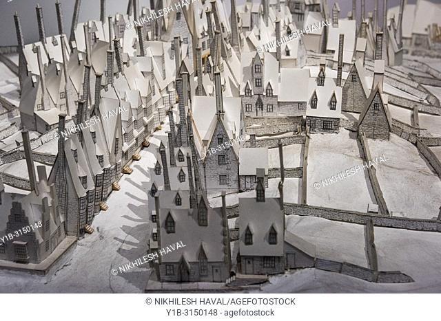 Hogsmeade model, Making of Harry Potter, Warner Bros. Studio Tour, Leavesden, London