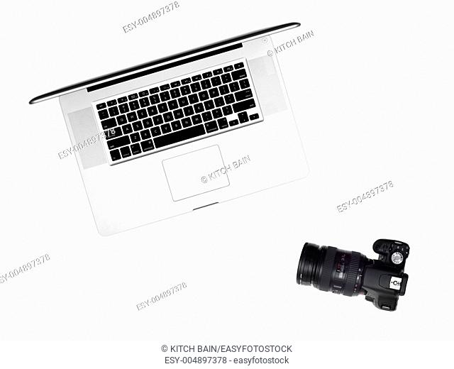 Photography gear isolated against a white background