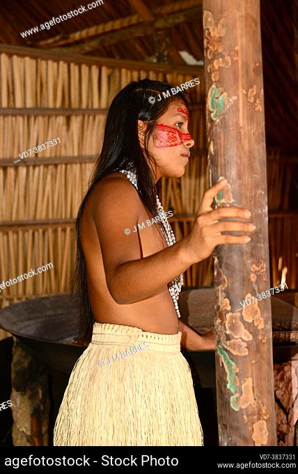 Tatuyo girl. Manaus, Brazil