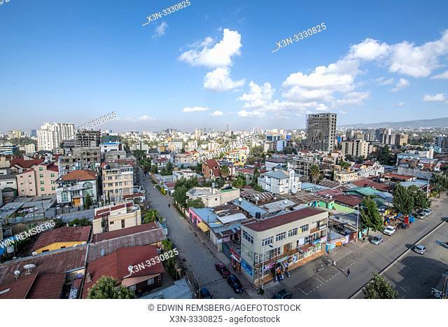 Sprawling skyline of the developing capitol of Ethiopia, Addis Ababa