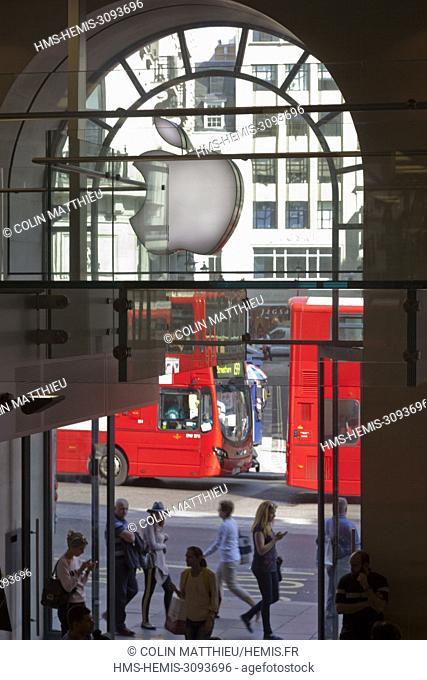 United Kingdom, London Apple store on Regent Street