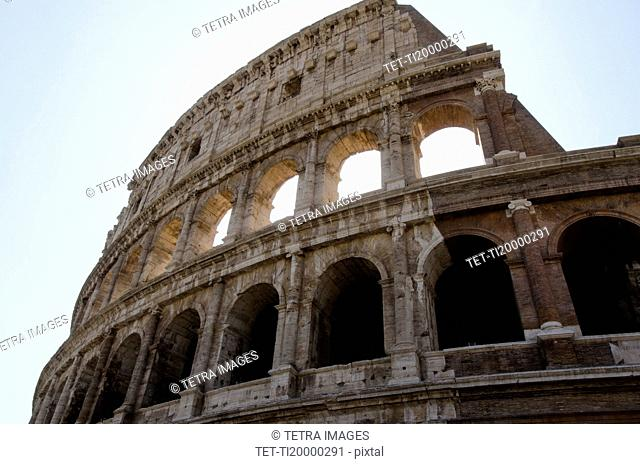 Italy, Rome, Clear sky over Colosseum