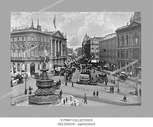 Piccadilly Circus, London, c1900. Artist: York & Son