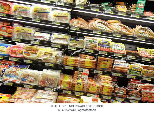 Florida, Miami, Coconut Grove, Milam's Markets, grocery store, supermarket, shopping, groceries, for sale, retail display, packaging, competing brands, hot dogs