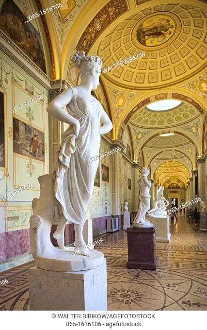 Russia, Saint Petersburg, Center, Winter Palace, Hermitage Museum, statue of a Dancer by Antonio Canova