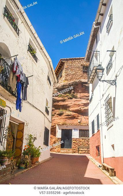 Street. Checa, Guadalajara province, Castilla La Mancha, Spain