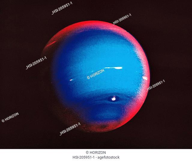 Space & astronomy, Planet, Neptune, False colour photo