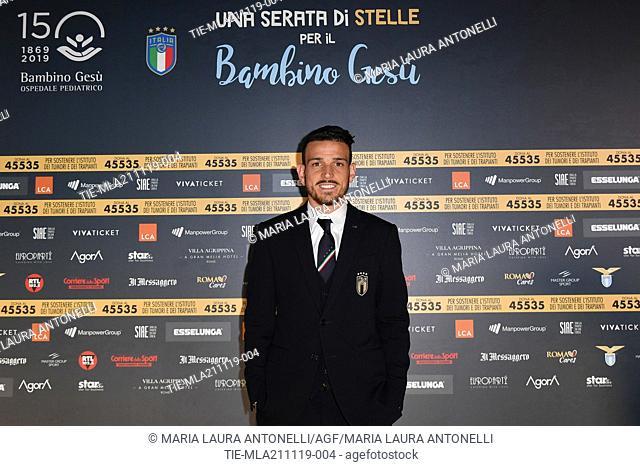The football player of Roma Alessandro Florenzi during the charity show ' Una serata di stelle' for the Hospital Bambino Gesu', Paul VI Hall, Vatican City