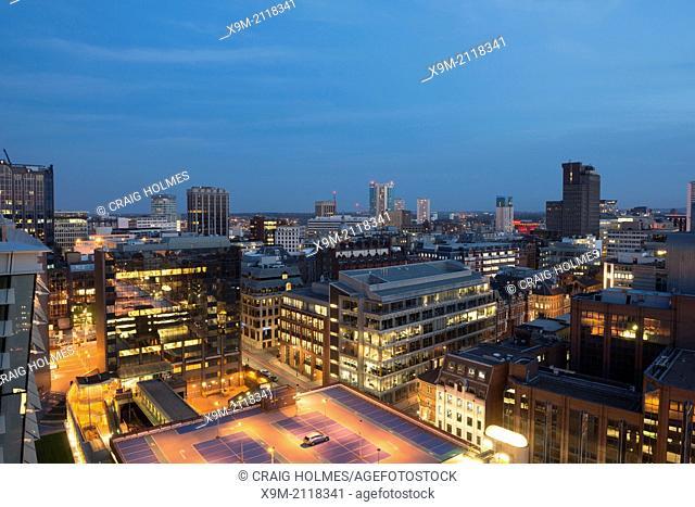 A view over Birmingham city centre, West Midlands, England, UK