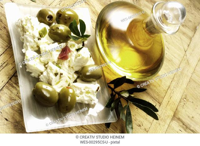 sheep feta cheese with Olives