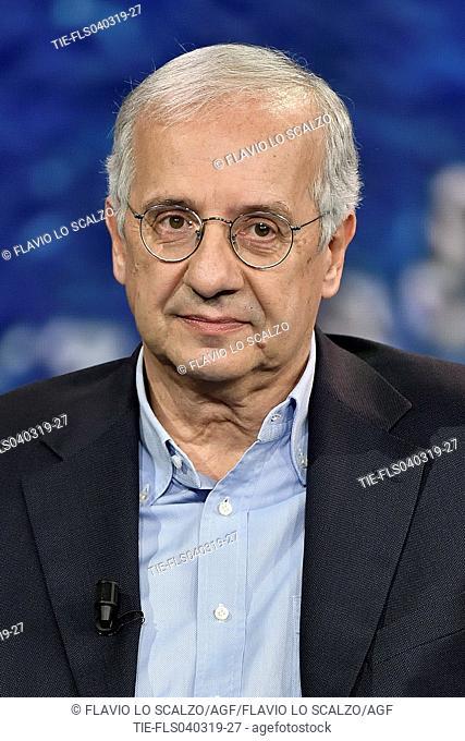 Walter Veltroni during the tv show Che tempo che fa, Milan, ITALY-03-03-2019