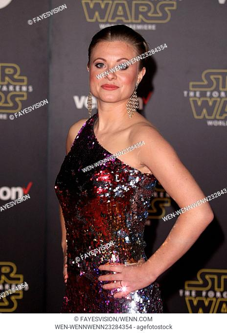 """Premiere Of Walt Disney Pictures And Lucasfilm's """"""""Star Wars: The Force Awakens"""""""" Featuring: Bonnie Piesse Where: Hollywood, California"""