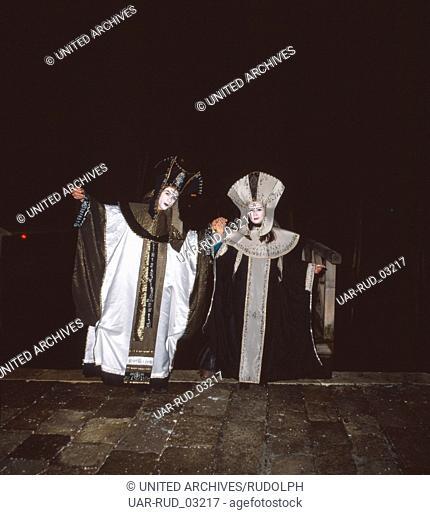 Karneval in Venedig, Italien 1980er Jahre. Carnival of Venice, Italy 1980s