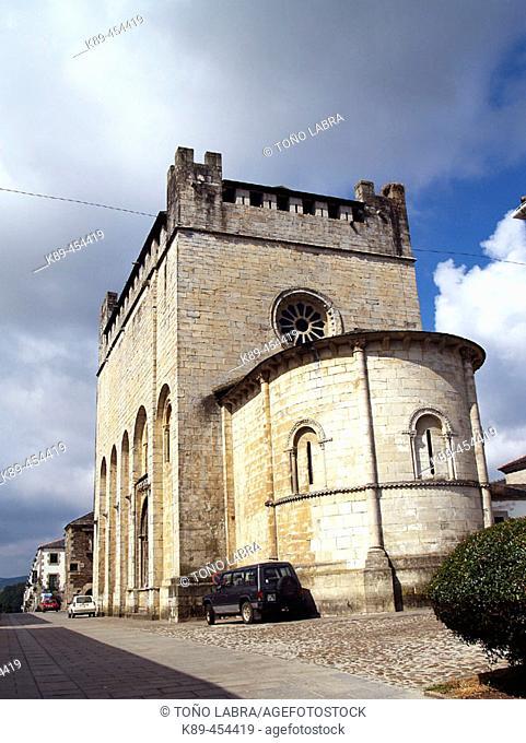 Romanesque church of San Nicolás, Portomarin, Lugo province, Galicia, Spain