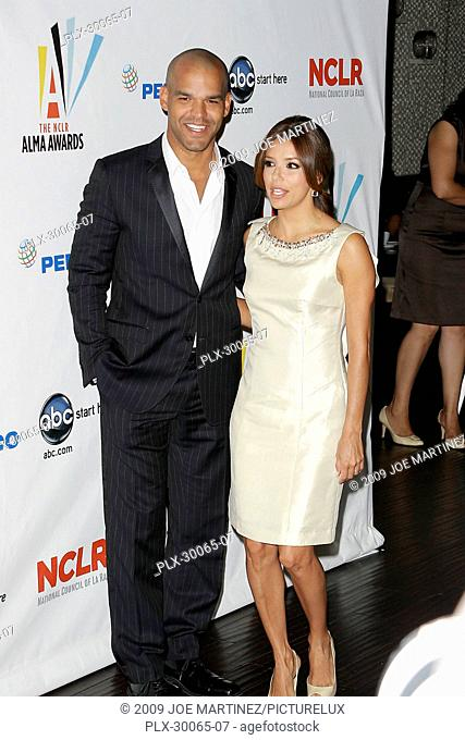 Amaury Nolasco and Eva Longoria Parker at the 2009 NCLR ALMA Awards Honoree press conference held at Beso Restaurant in Hollywood, CA, August 25, 2009