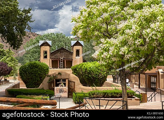 Chimayo, New Mexico - The Christ of Esquipulas Chapel at El Santuario de Chimayo, a Roman Catholic pilgrimage shrine in the mountains of northern New Mexico
