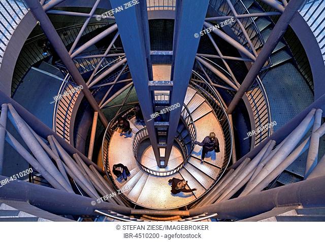 Stairs at subway station Reinoldikirche, Dortmund, Ruhr district, North Rhine-Westphalia, Germany