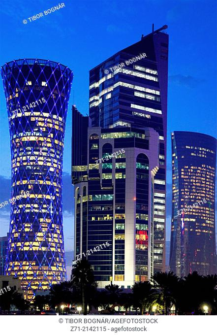Qatar, Doha, West Bay, business district, skyline,
