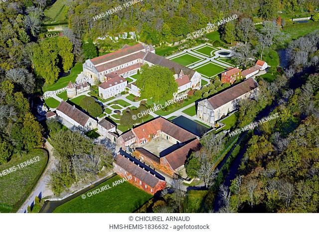 France, Cote d'Or, Marmagne, the cistercian abbey of Fontenay listed as World Heritage by UNESCO