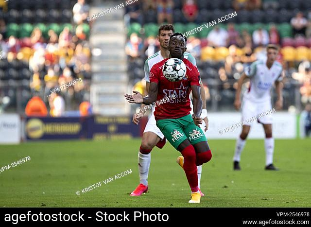 Oostende's Fashion Junior Sakala pictured in action during a soccer match between KV Oostende and Oud-Heverlee Leuven, Saturday 19 September 2020 in Oostende