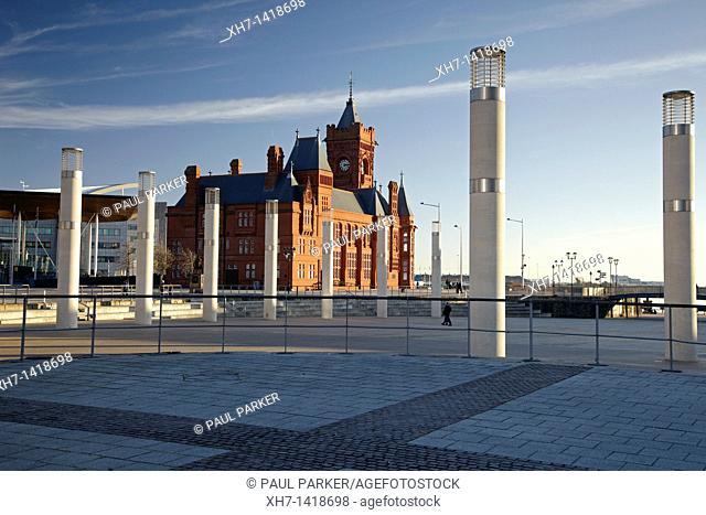 Pierhead building, Cardiff Bay, Cardiff, Wales, UK