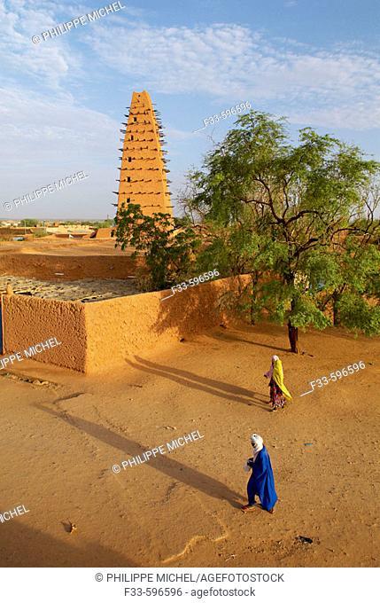 Niger. Agadez. Door of the desert. The Great Mosque build of mud, 16 century