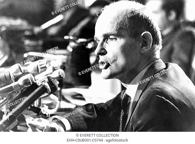 Senator William Proxmire at a news conference on Dec. 26, 1969. Proxmire was elected to the Senate on August 28, 1957, to fill Wisconsin seat vacated by the...