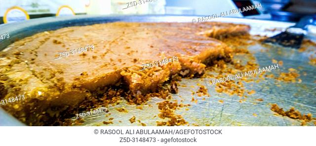 Najaf, Iraq – September 22, 2018: photo for Al - Dahaina Sweets Store in Najaf province south of Iraq. its most famous sweets in the city of Najaf