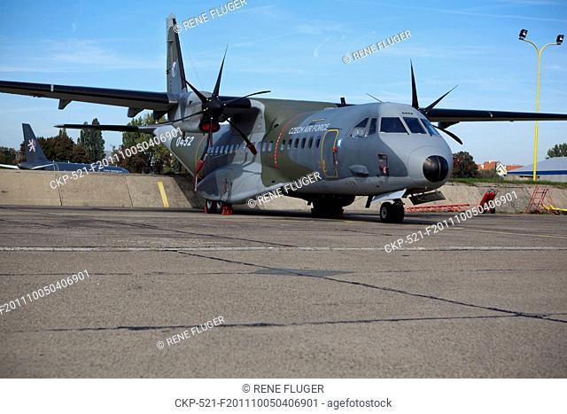 CASA C-295M, two-engine turbo-propelled tactical transportation aircraft for short and medium distances for transport of personnel and materie
