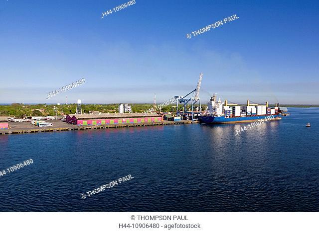 Container ship, Port of Corinto, Nicaragua