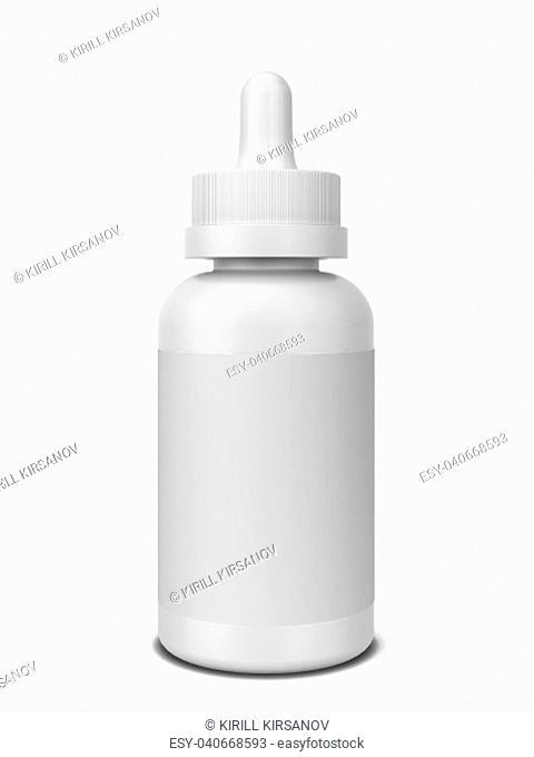 Vaping liquid bottle. 3d illustration isolated on white background