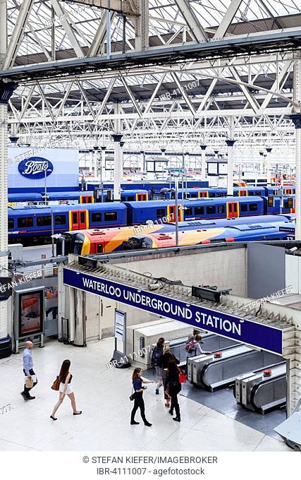 Waterloo Railway Station, London, United Kingdom
