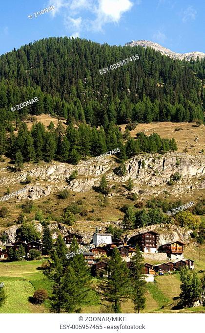 Hamlet Eisten near Blatten, Loetschental, Valais