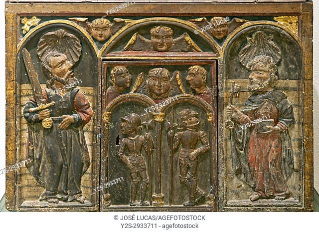Provincial museum, Polychrome wood tabernacle (16th century), Lugo, Region of Galicia, Spain, Europe