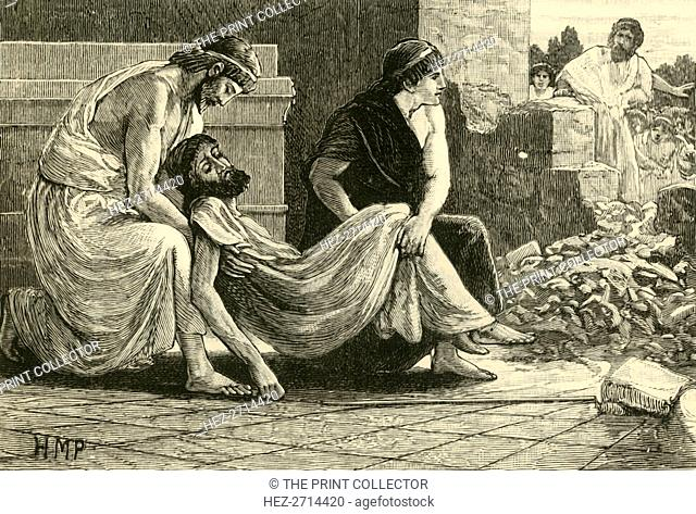 'Death of Pausanias', 1890. Creator: Unknown