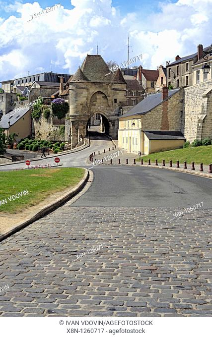 Town gate, Laon, Aisne department, Picardy, France