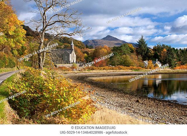 Ardchattan Kirk And Ben Cruachan, Loch Etive, Argyll
