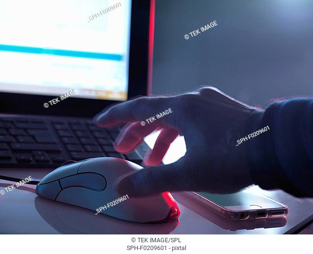 Computer hacking, conceptual image
