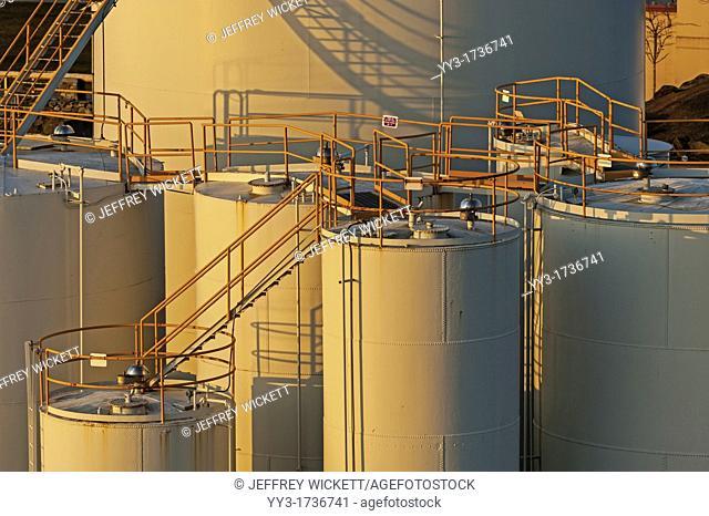 Fuel tanks at Petro Marine in Sitka, Alaska, USA