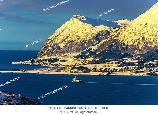 Nearby islands in the archipelago surrounding Alesund, on the west coast of Norway