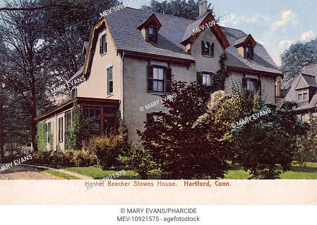 Home of Harriet Beecher Stowe, novelist, in Hartford, Connecticut, USA