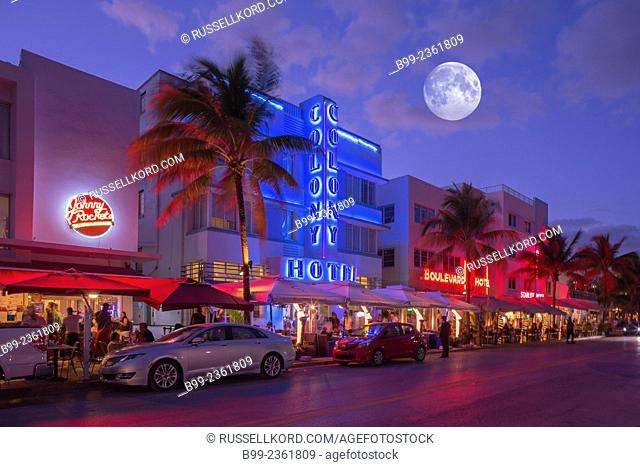 Hotels Ocean Drive South Beach Miami Beach Florida Usa
