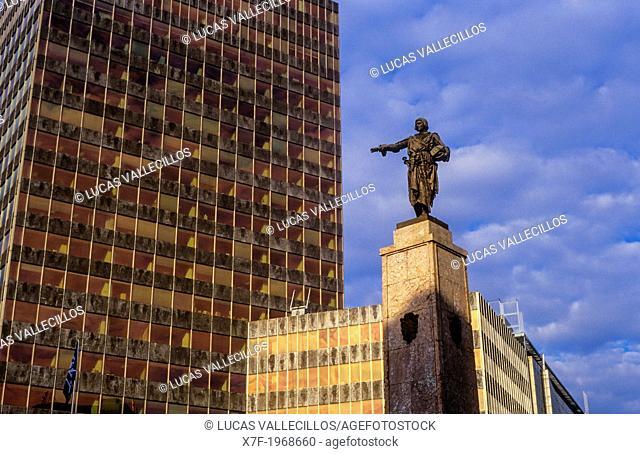Diego Lopez de Haro statue, in plaza Circular . Bilbao. Vizcaya. Spain