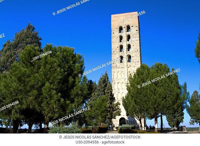 Bell tower of San Nicolas church, declarated National Monument. Coca, Segovia province. Spain