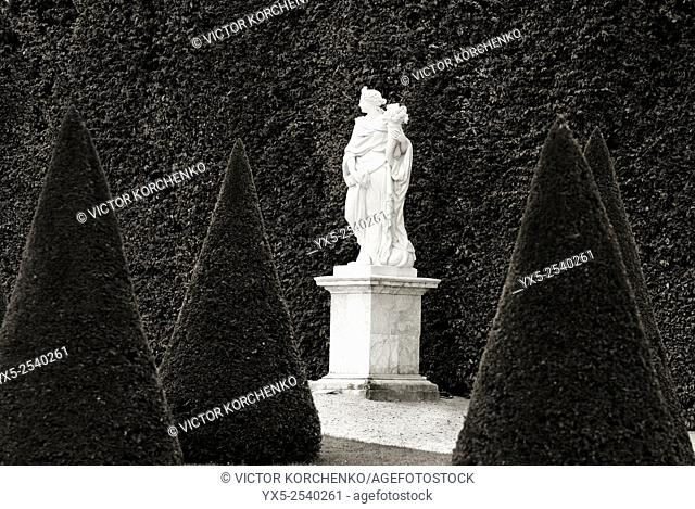 Statue on the North Parterre of the gardens of Versailles